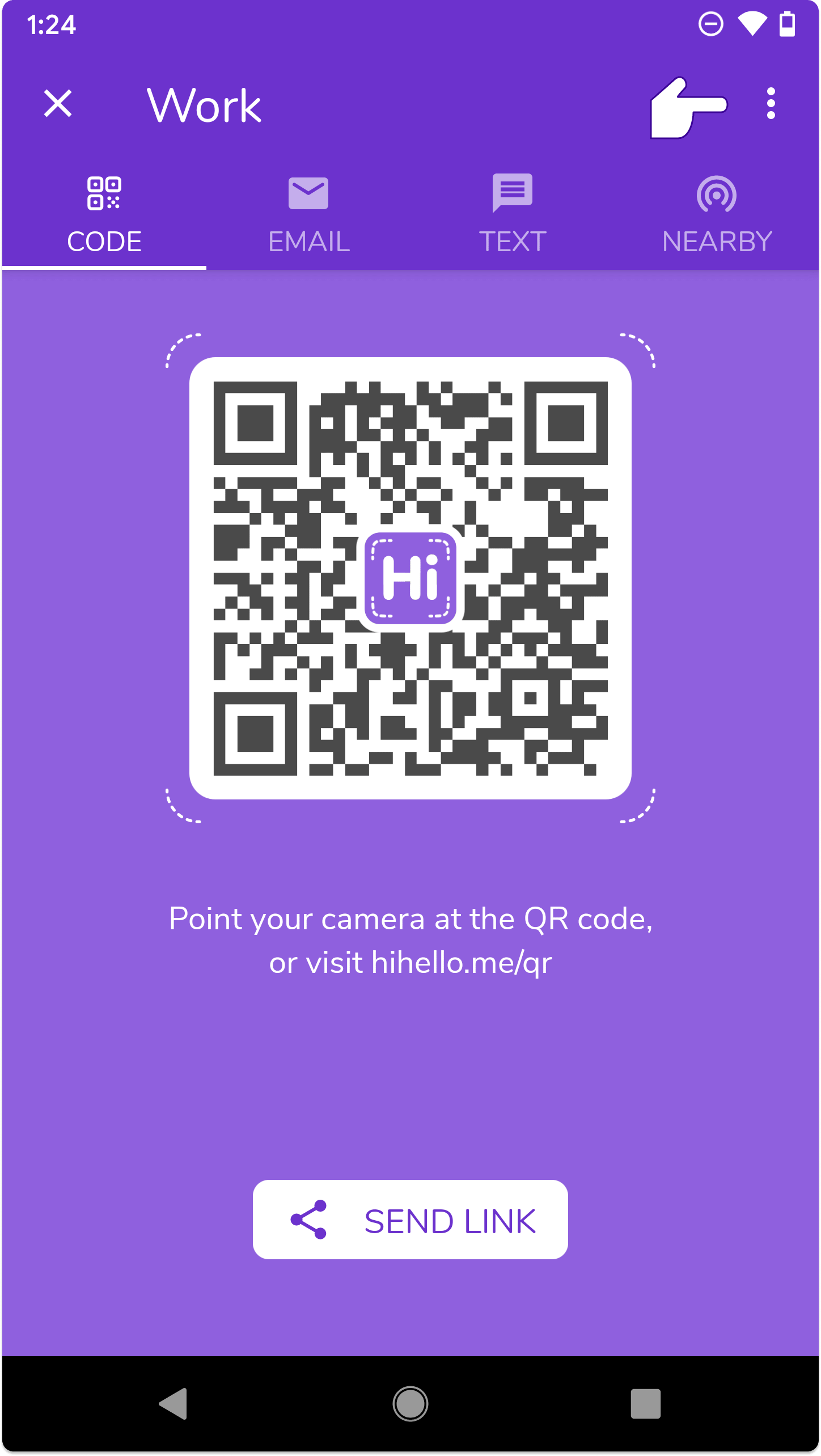 Save your QR code on Android