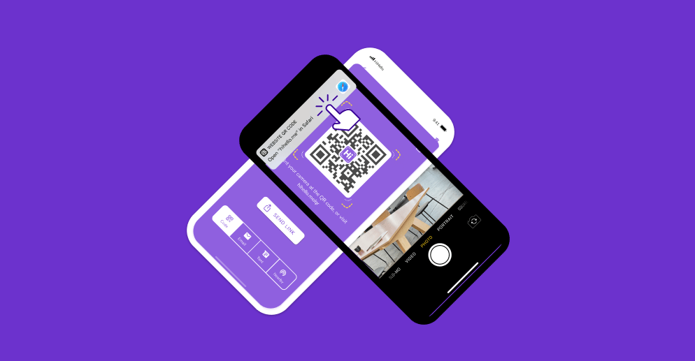 Share your HiHello virtual business card using a QR code