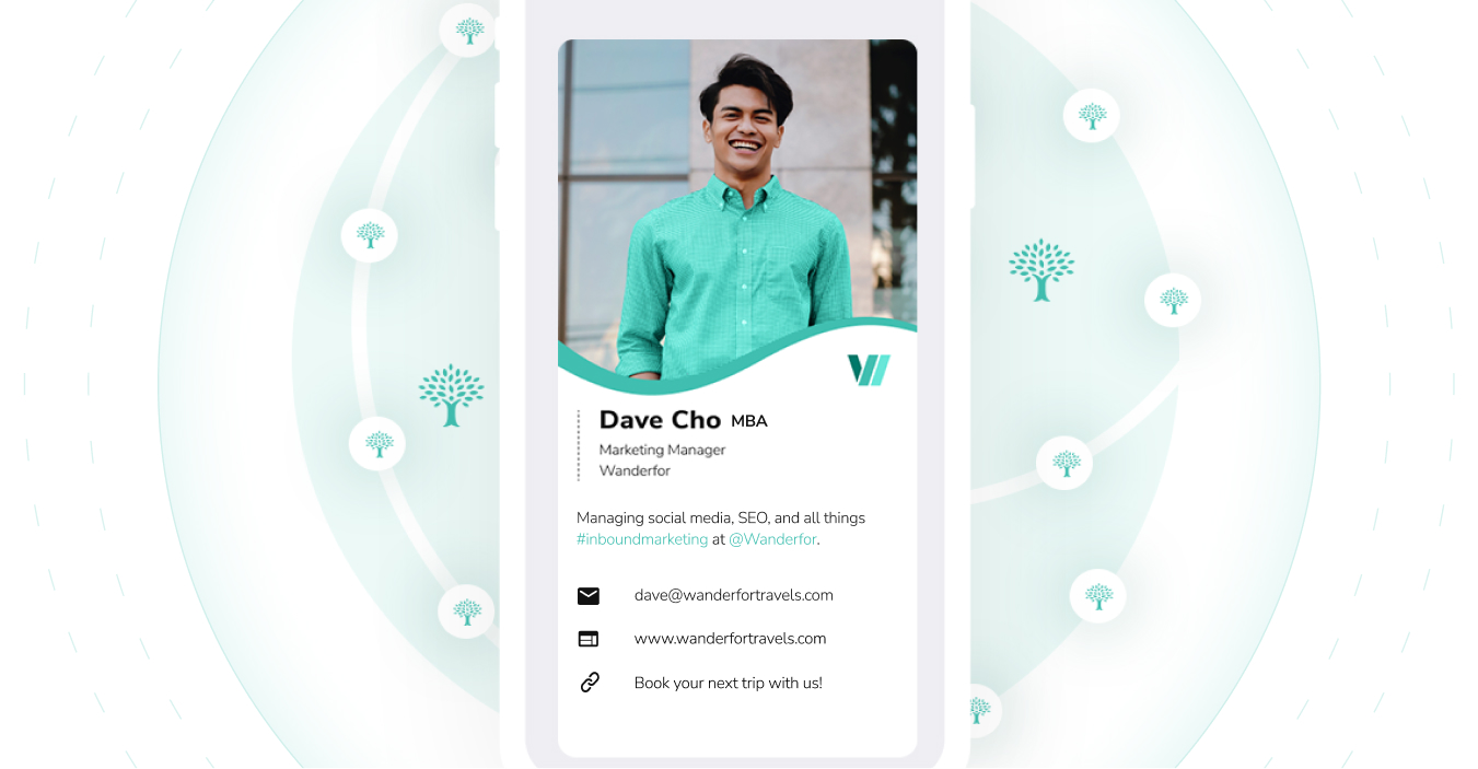 Digital business cards are eco-friendly