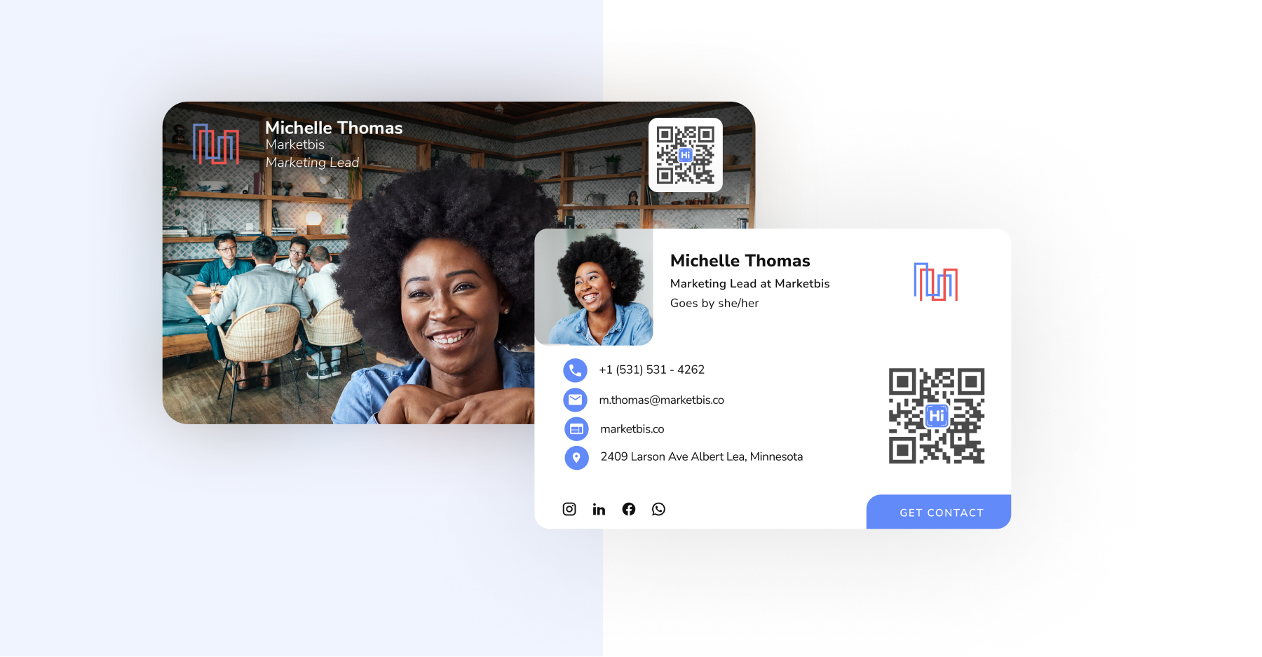 HiHello's email signatures and virtual backgrounds for Zoom, Microsoft Teams, and Google Meet.