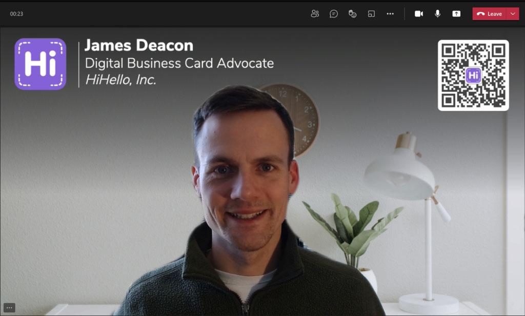 Custom virtual background on Microsoft Teams