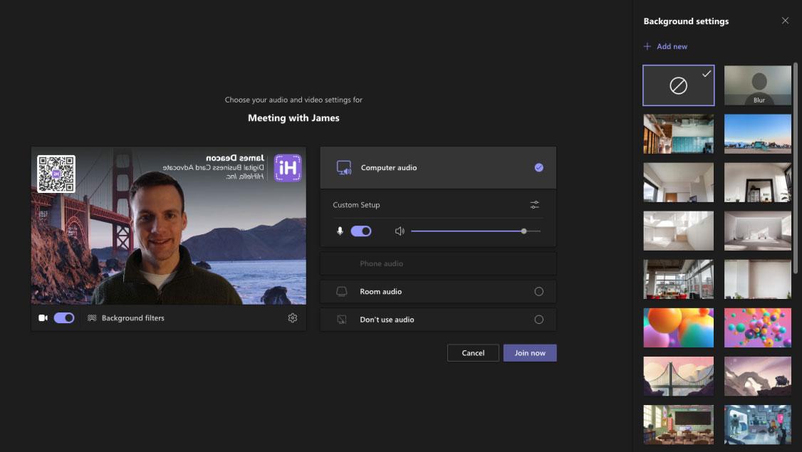 Add a new custom background to Microsoft Teams