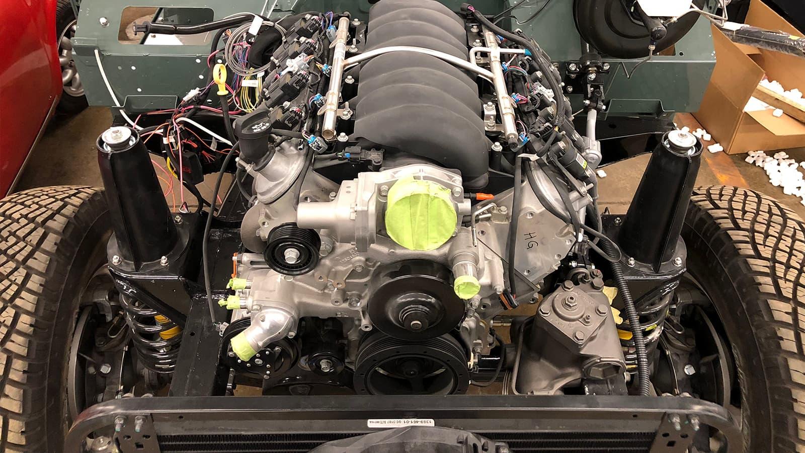 Engine of Monarch Defender