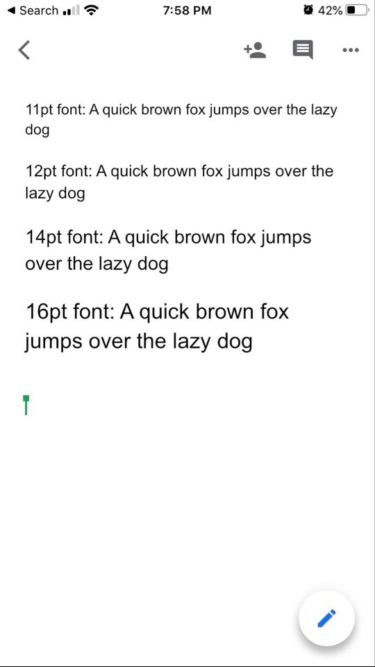 Email mobile font size should be at the very least 14px with recommended font size at 16px