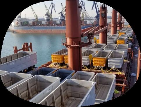 Bulk break cargo aboard a ship