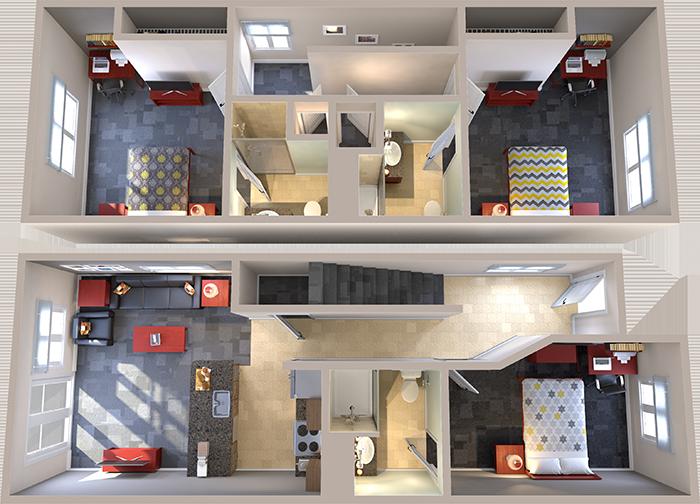 2 Bedroom Floor Plan Layout