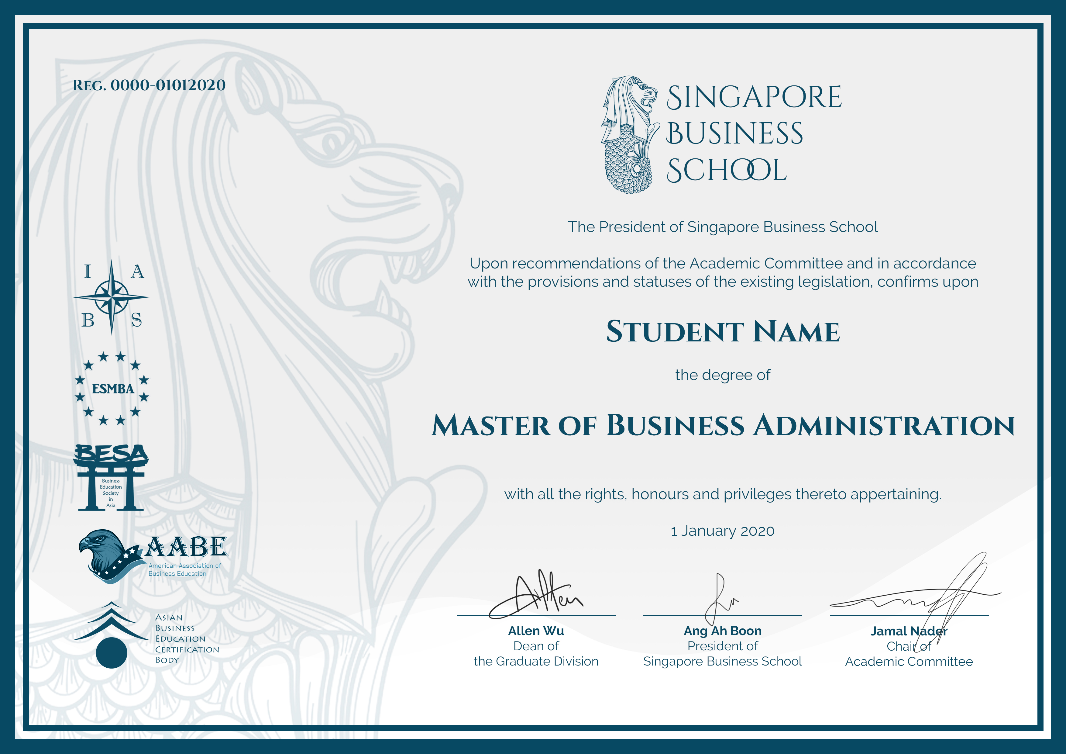 SBS Online MBA degree