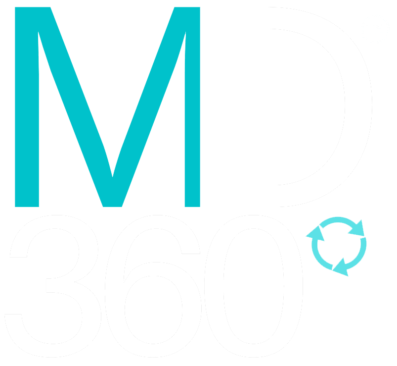 MD360 Logo White