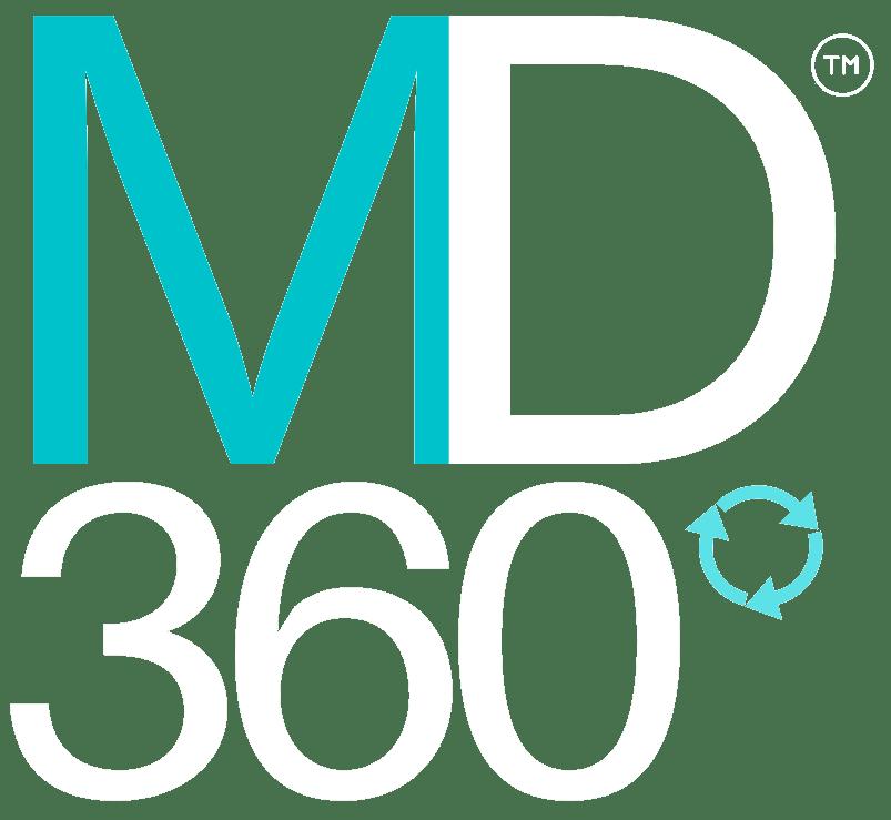 MD360 Logo White