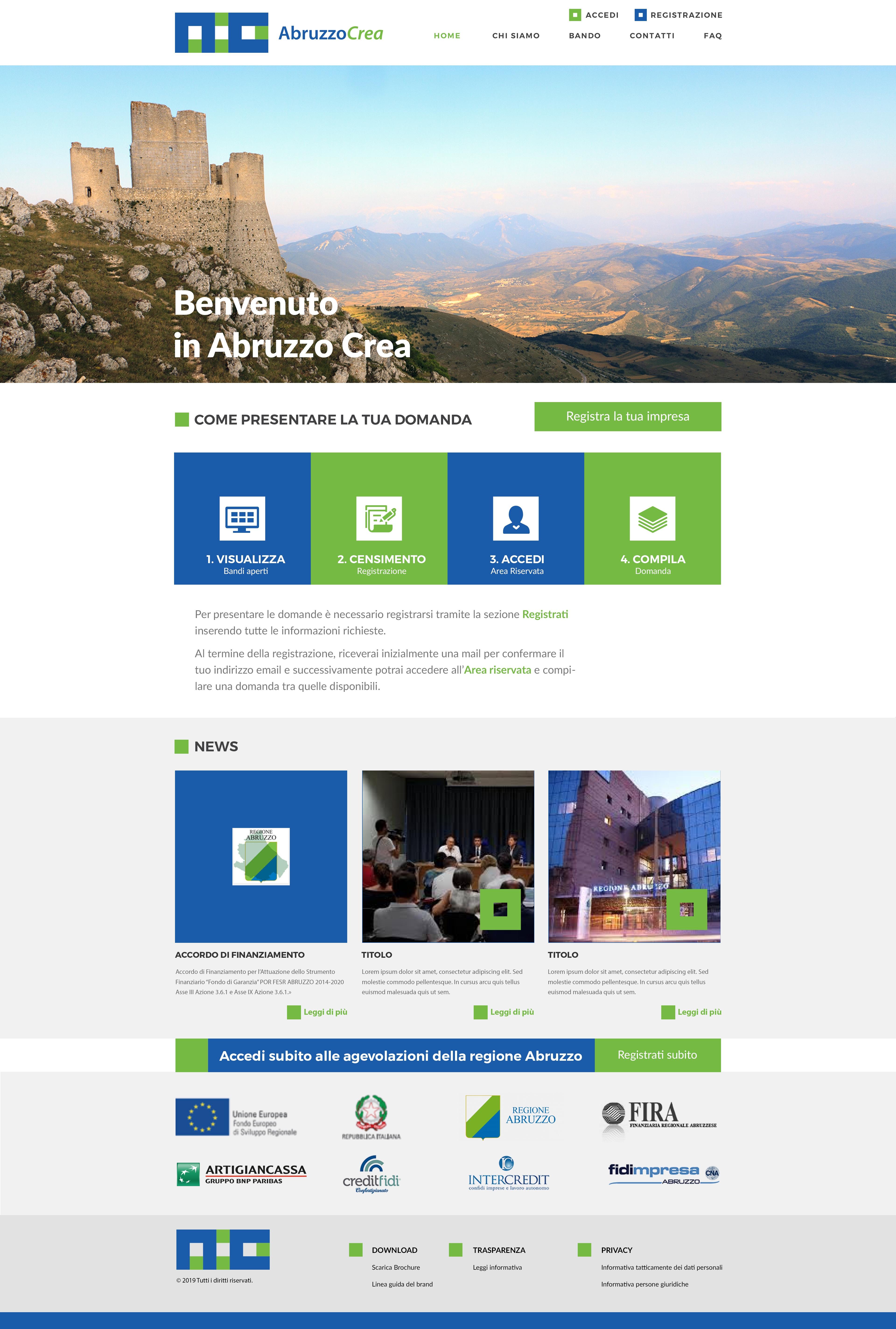 design ui/ux sito web brand