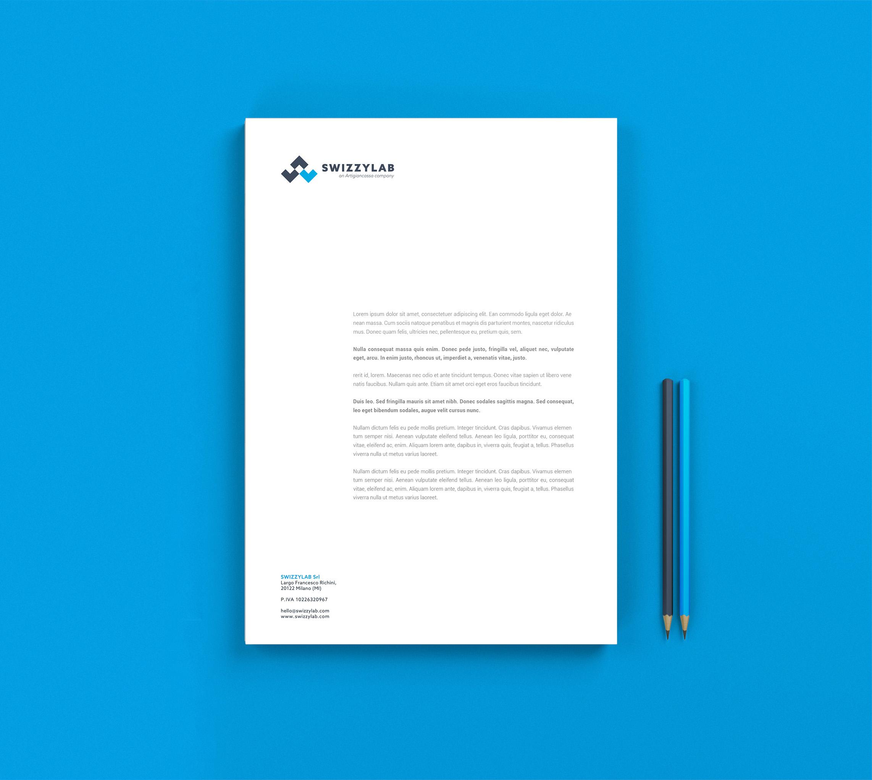 carta intestata e lettera brand