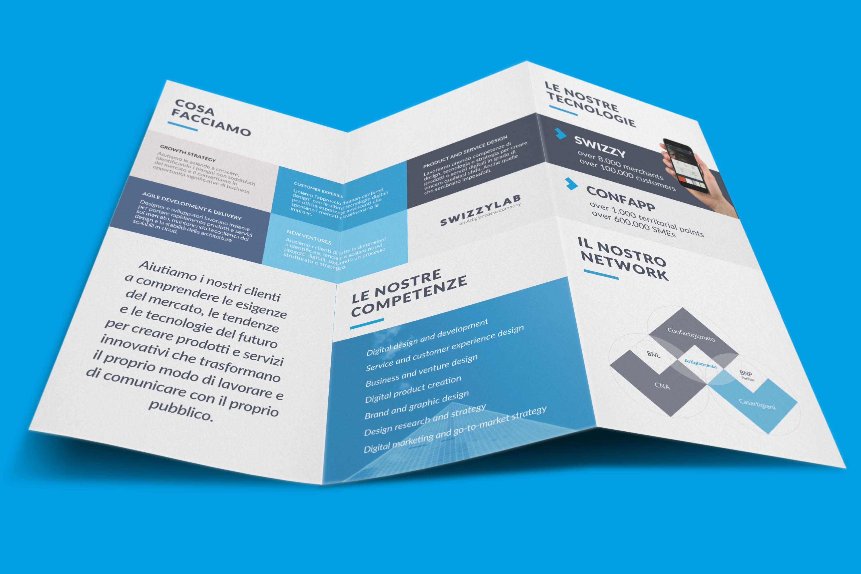 realizzazione design brochure 2 e 3 ante