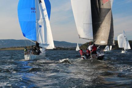 båter som seiler medspinnaker