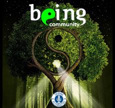 logo for Being Community Radio