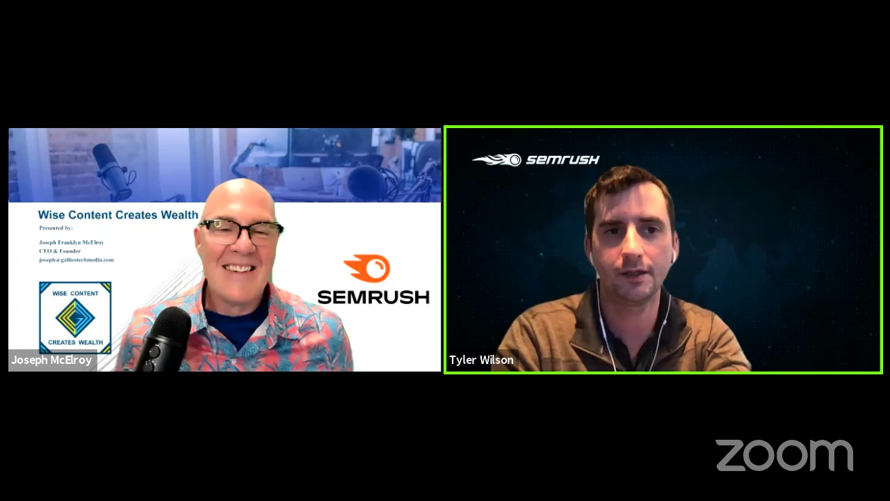 Facebook Live Video from 2021/04/23 - How SEMRush Produces Wise Content