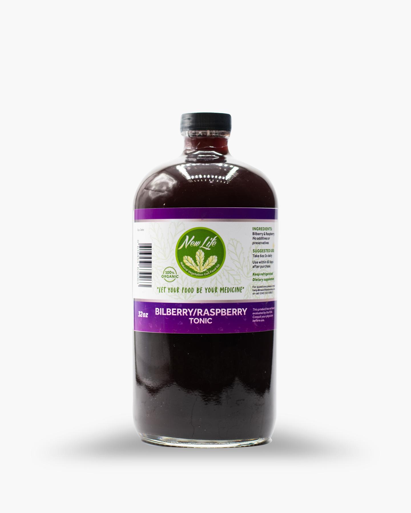Bilberry Raspberry Tonic