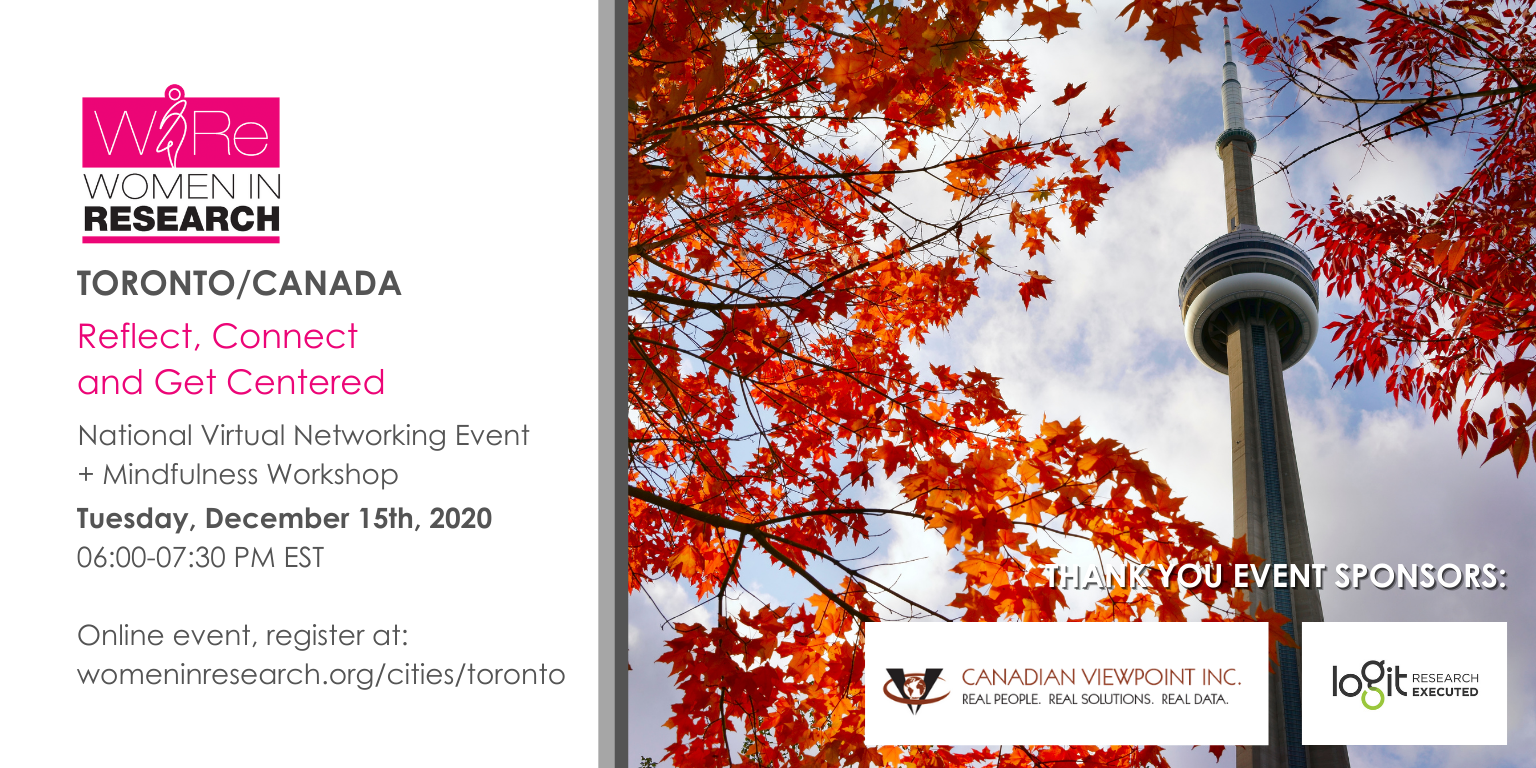 Reflect, Connect and Get Centered: Canada-Wide Virtual Networking Event