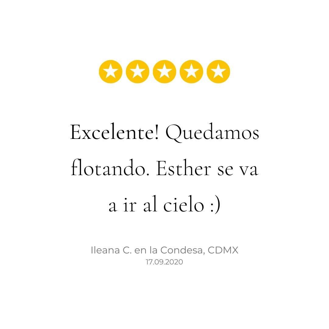 Esther es una de nuestras físico terapeutas en la CDMX y ayer realizó dos masajes deportivos seguidos en la Condesa. Nuestras