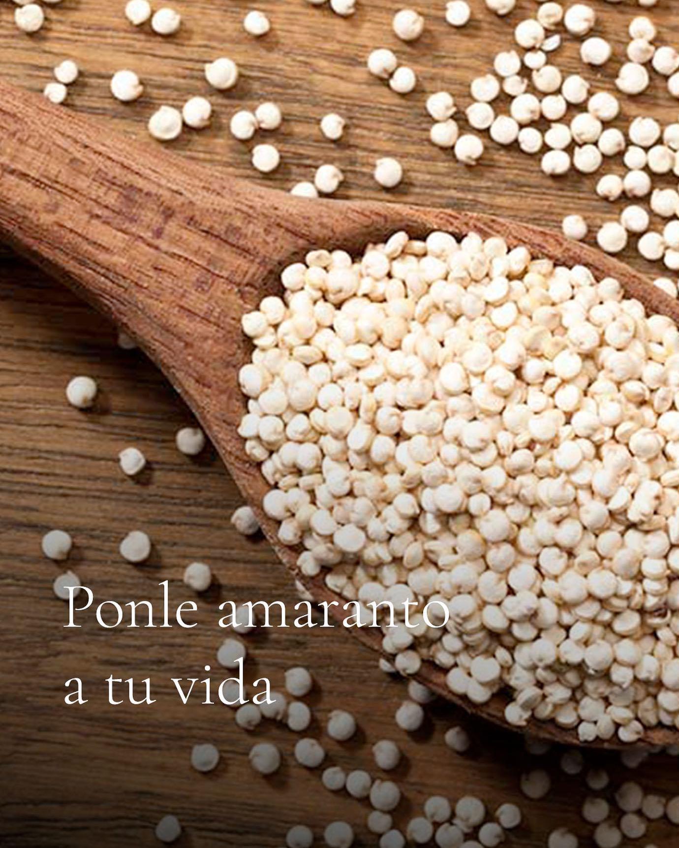 ✨El amaranth grain is gluten-free, making it a great food for coeliacs. 🌱Su fiber content improves the t