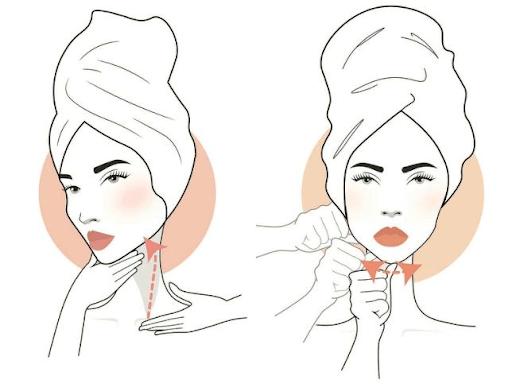 Técnica de masaje reductivo para la papada