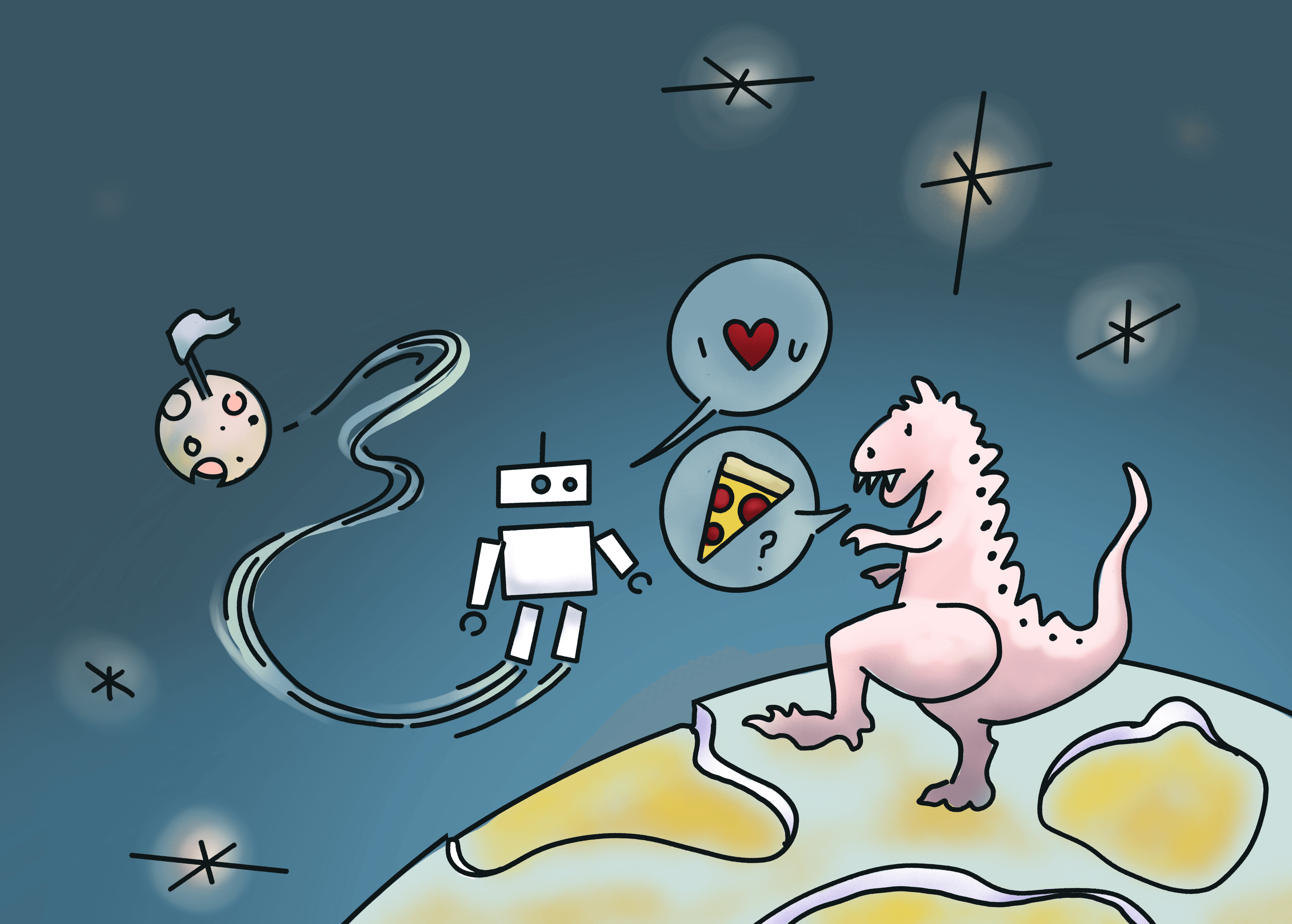Sandaval Pierce in Space