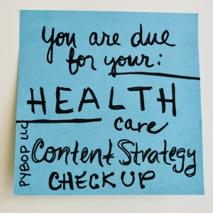 Health content strategy