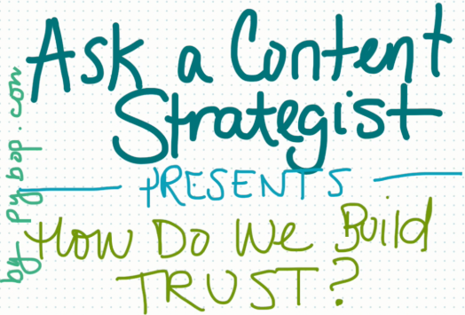 How do we establish (or re-establish) audience trust with content?