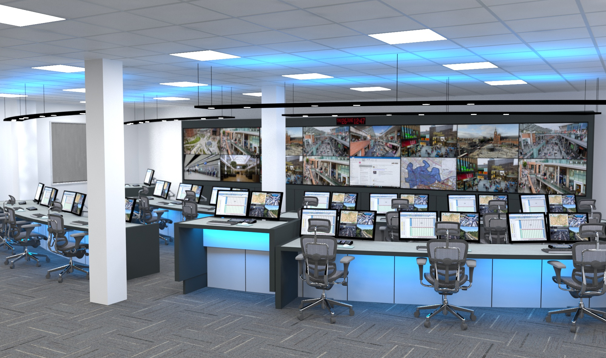 Image of the Main Control Room at the NMC