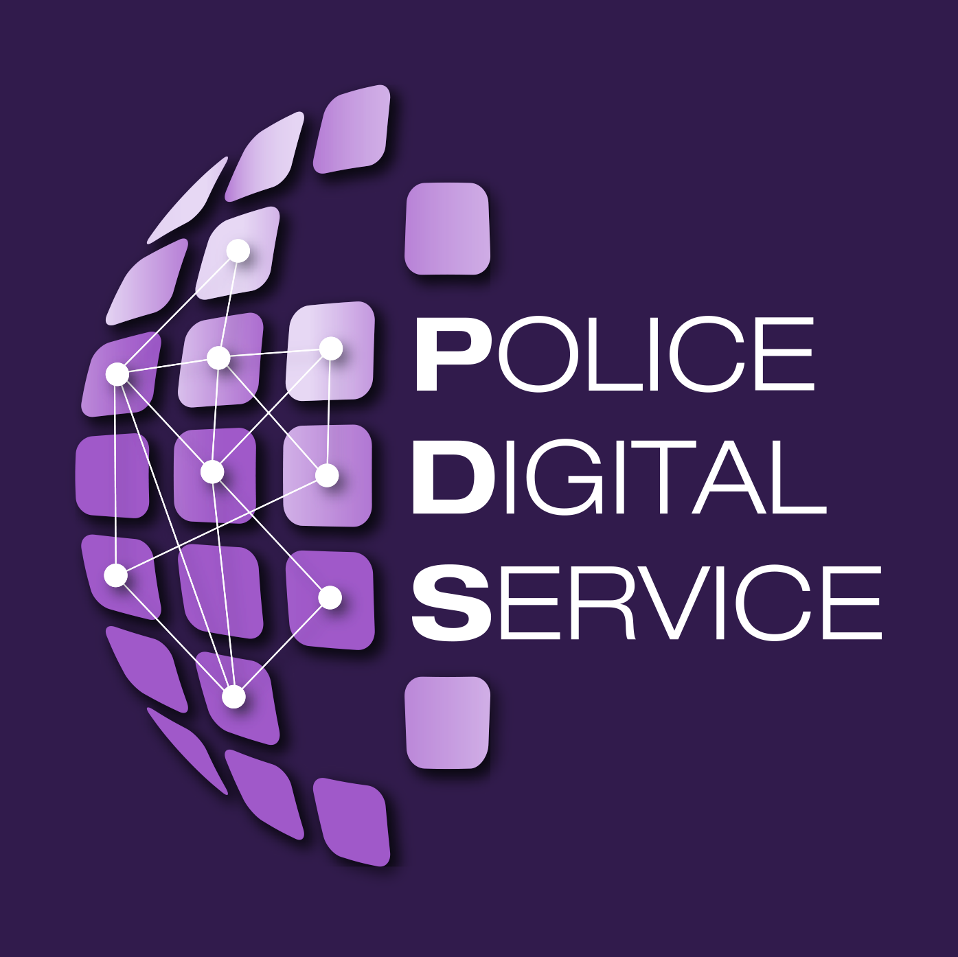 New Police Digital Service Logo in purple