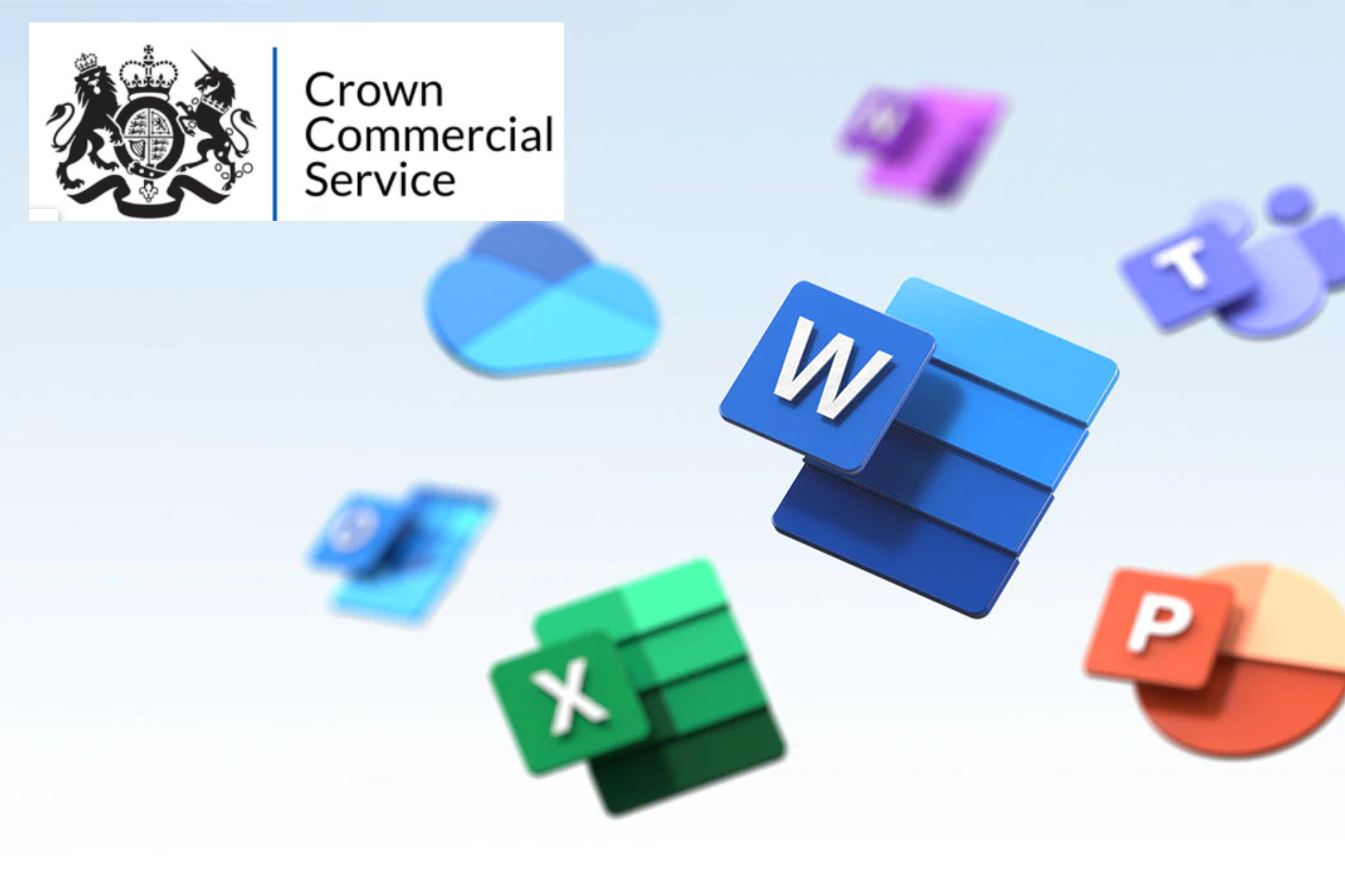 Microsoft logos with the Crown Commercial LOGO