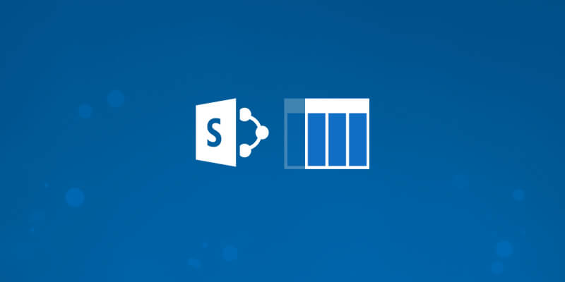 SharePoint and Lists Logos on a blue background