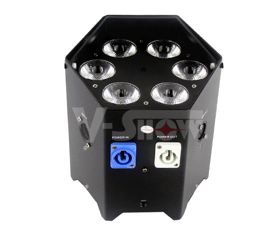 RGBAWUV Battery Powered LED Par 6x18