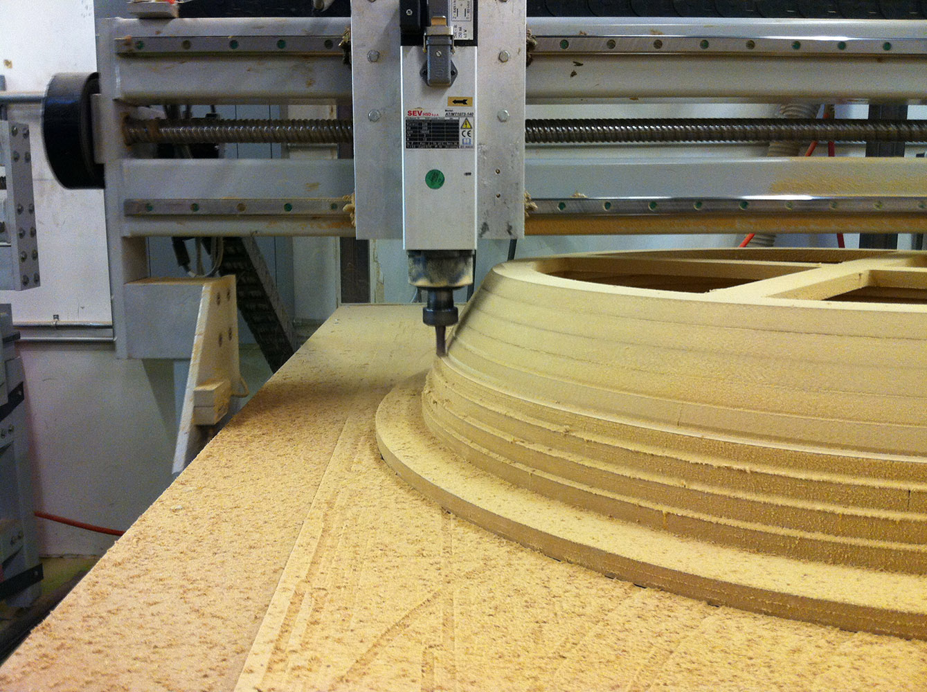 CNC router cutting material