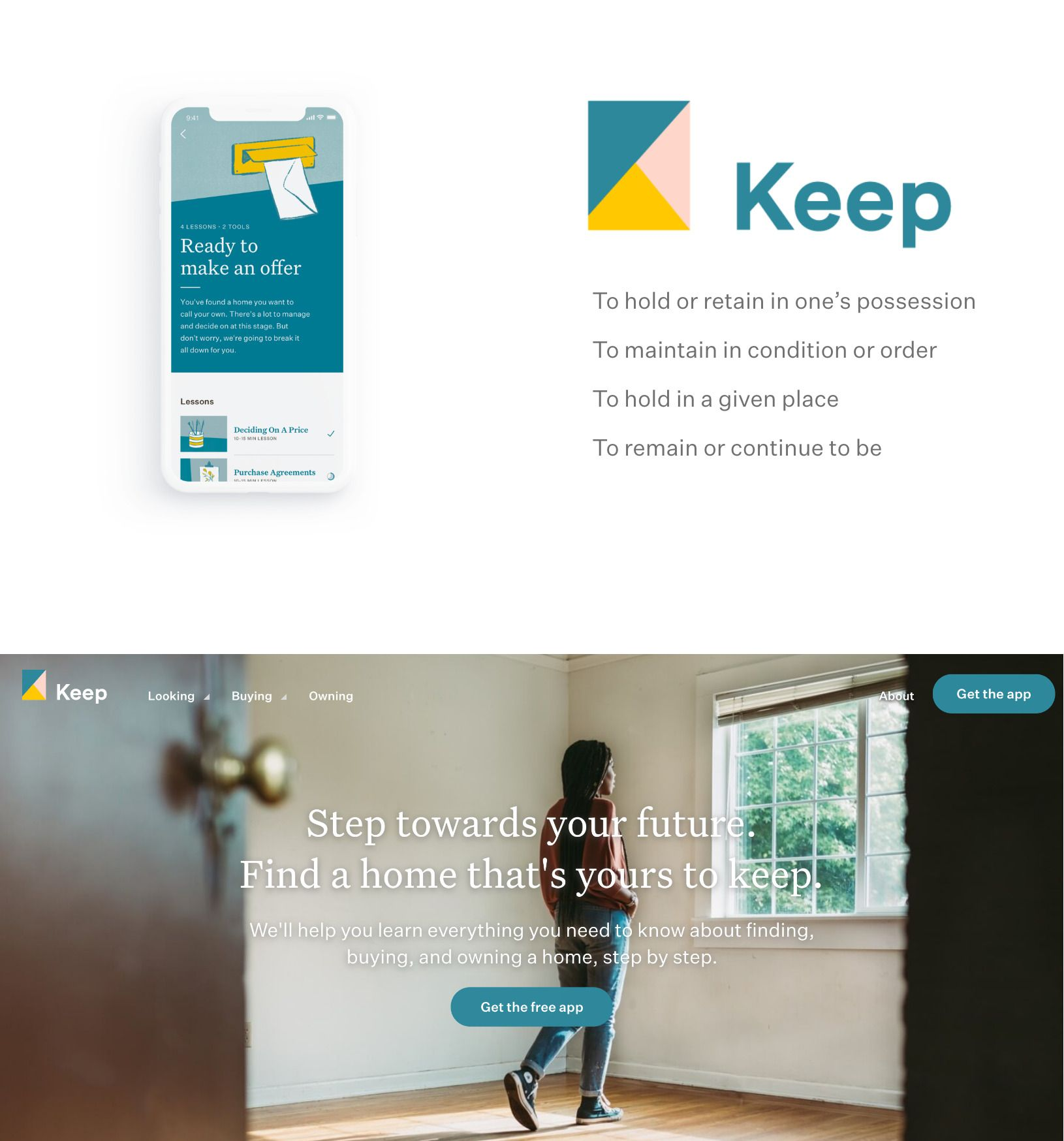 Keep app and site