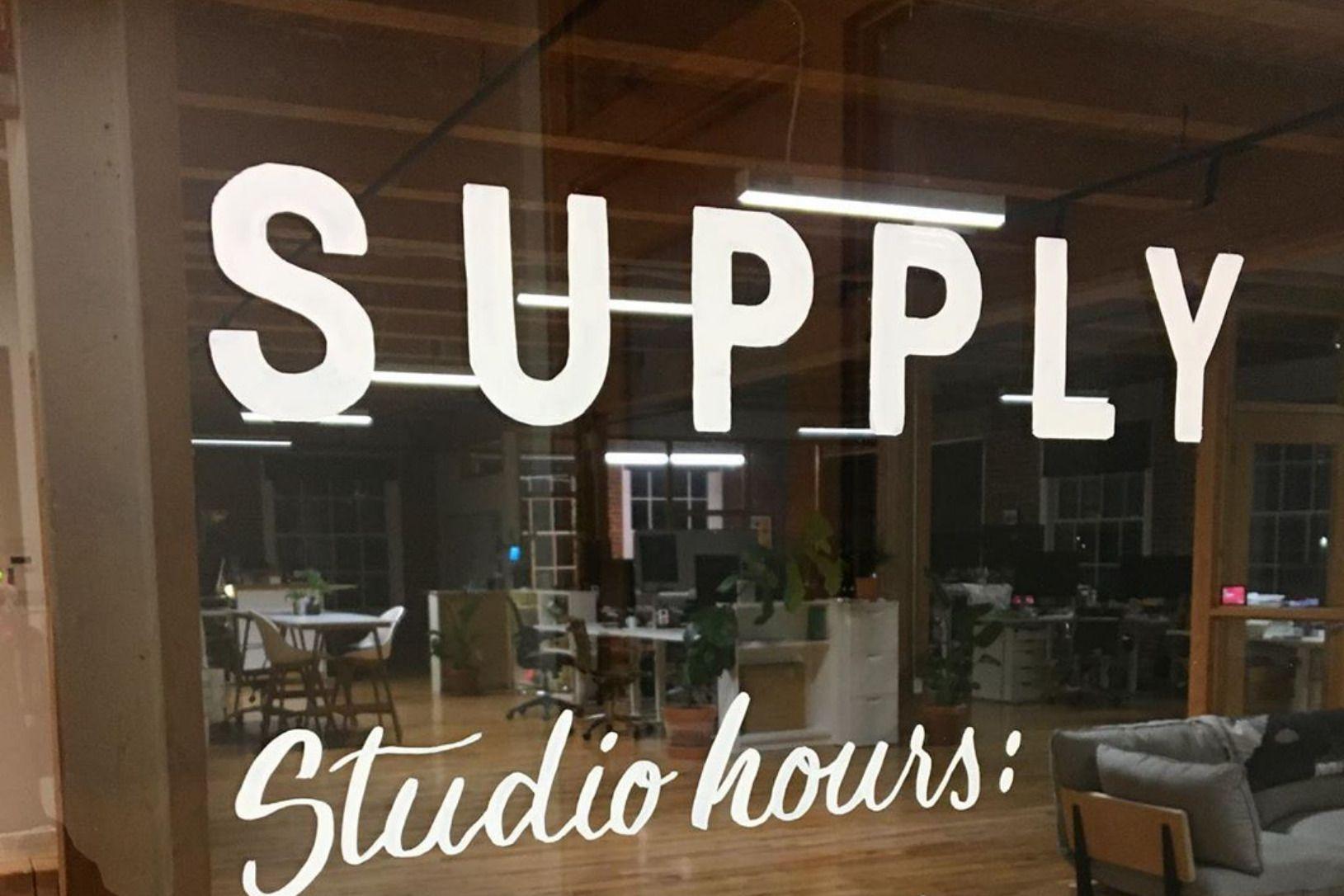 Supply logo on door
