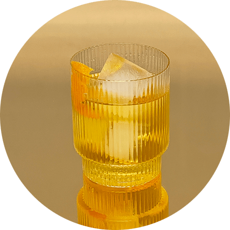 Glass of Basbas on the rocks