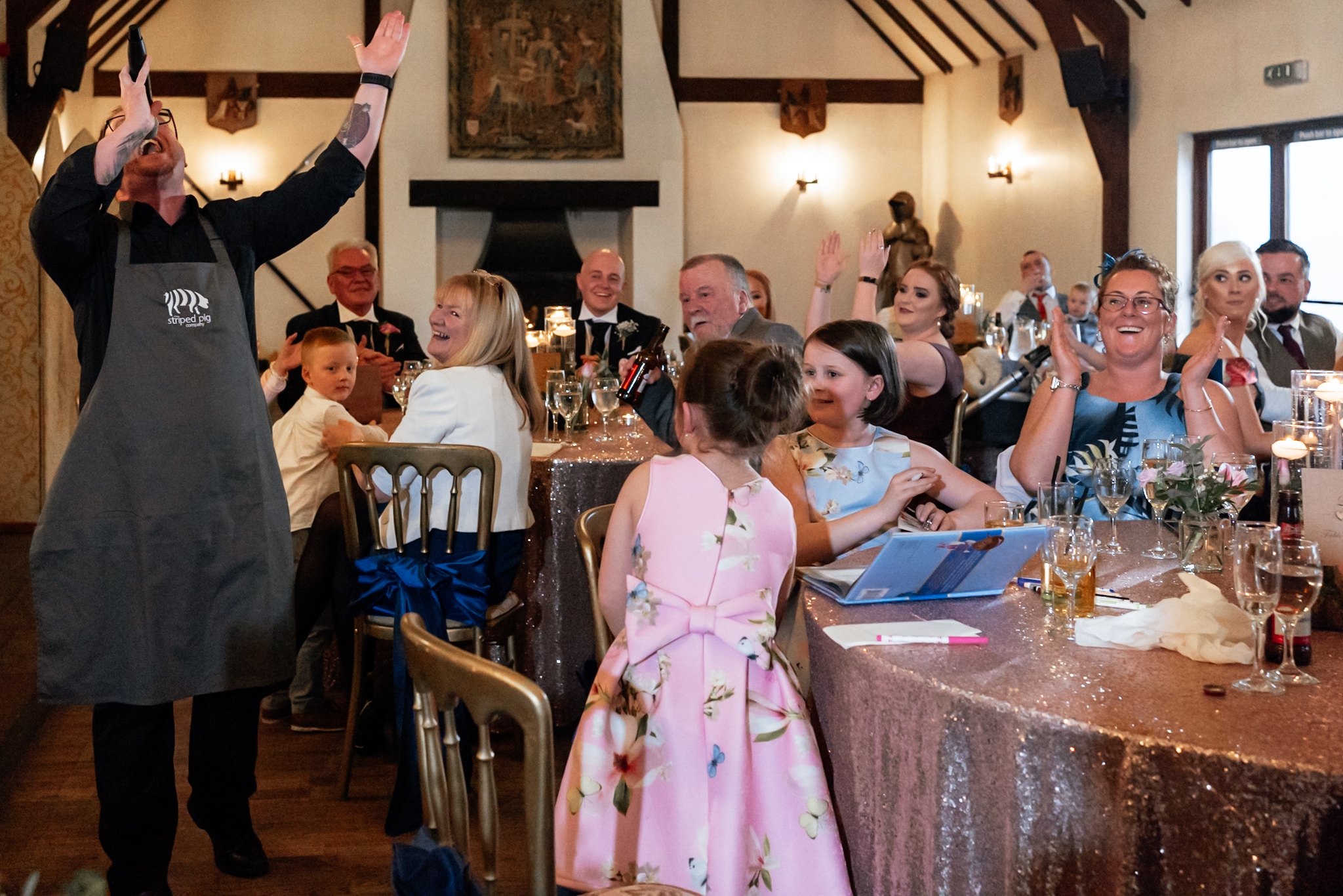 Real moment wedding photography Great Hall At Mains