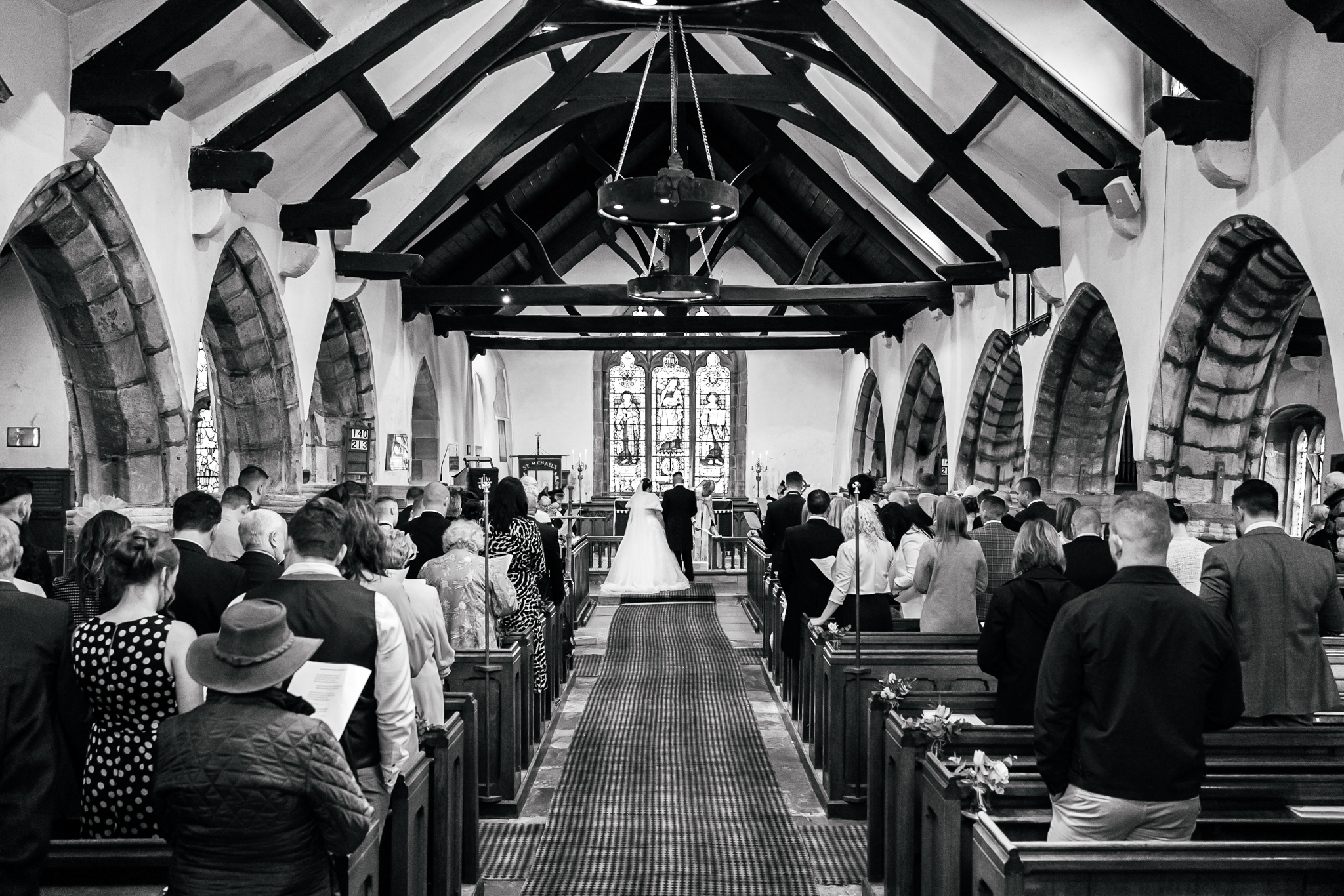 Great hall At Mains Wedding Photography