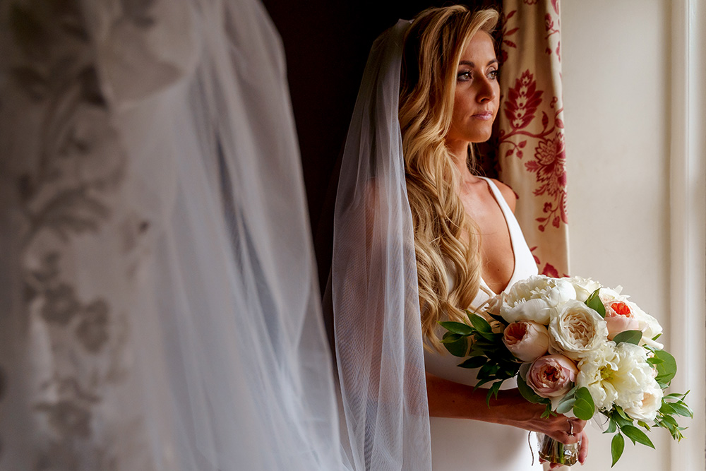 Bride portraits the Inn At Whitewell