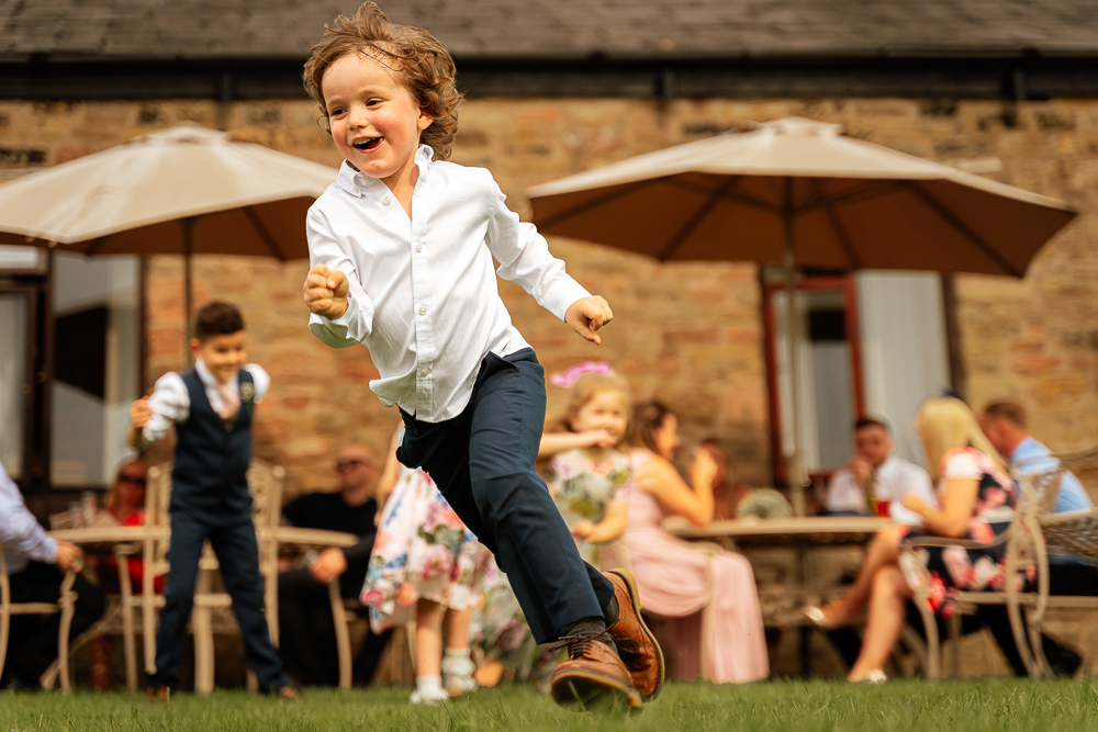 kids having fun at weddings