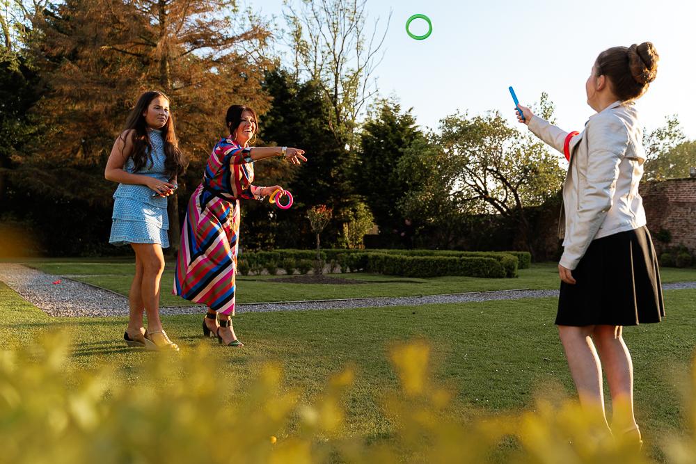 Garden wedding games