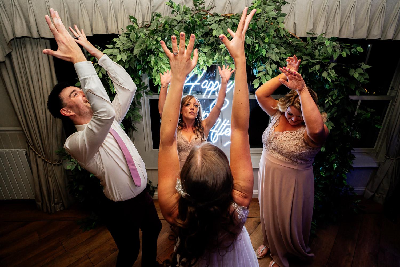 Wedding dancefloor fun