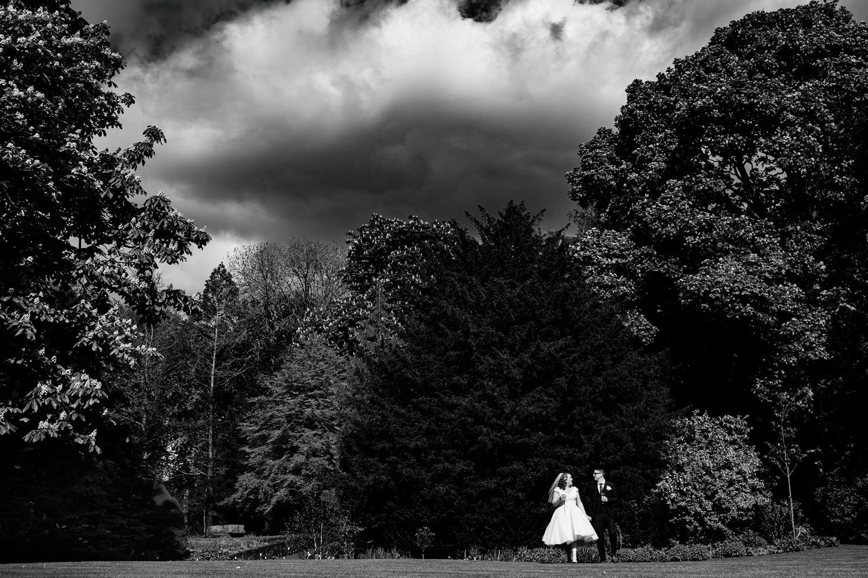 Wedding portrait session Samlesbury hall