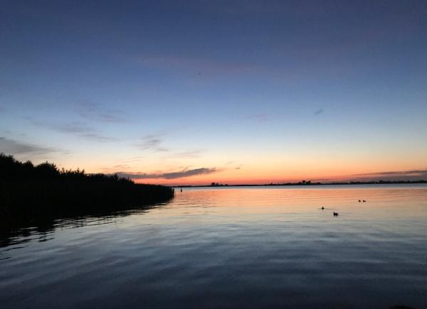 Foto die ik heb gemaakt van de zonsondergang op de Langweerderwielen in Langweer.