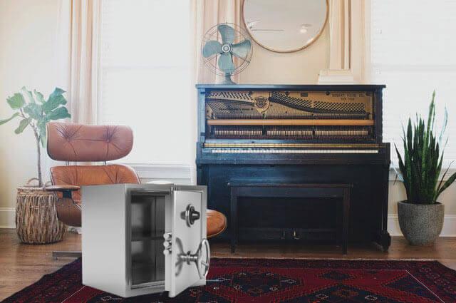 Flytting av piano og safe
