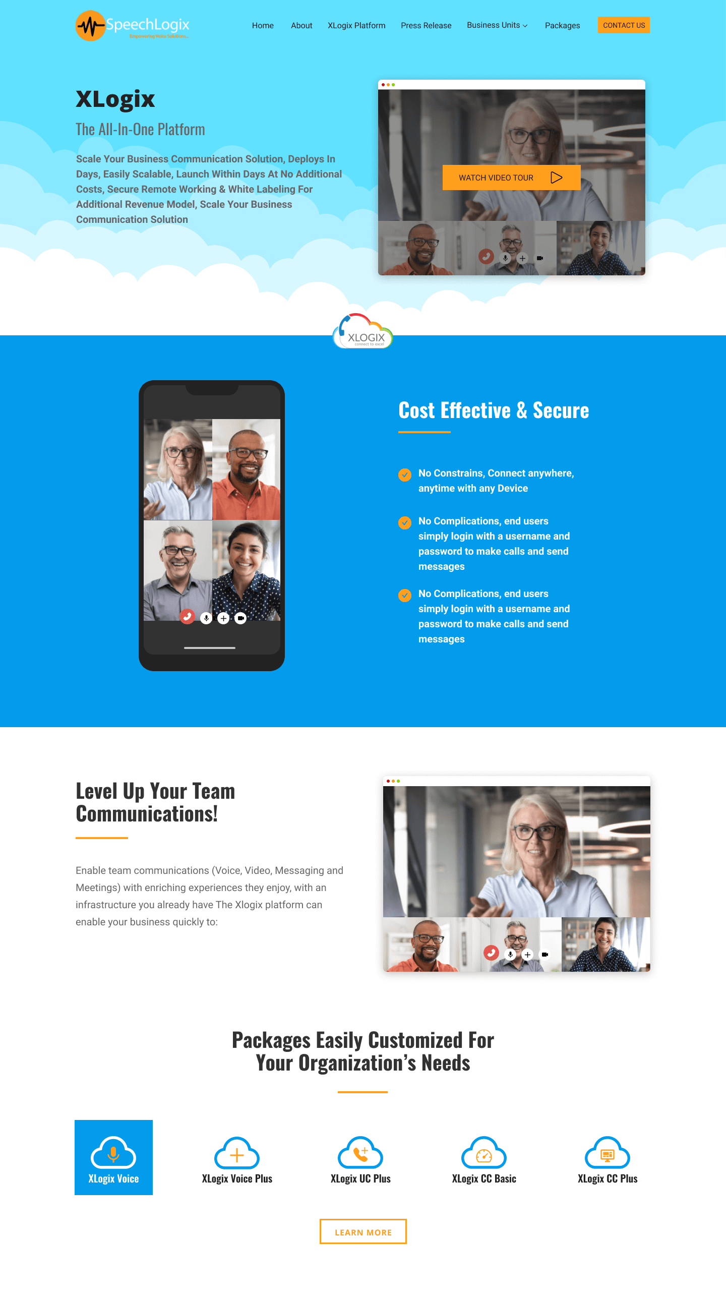 Designed a website for SpeechLogix, a middle easteern startup getting into the canadian cloud telephony market