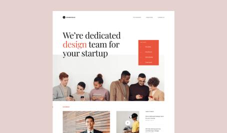 One example of beautiful website Rafiki Digital can design. Credit to Dwinawan on Dribbble.