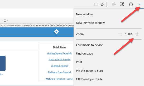 Internet Explorer Zoom Setting