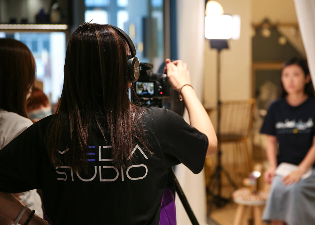 media studio professional video shooting at inch interior design with herbs hk