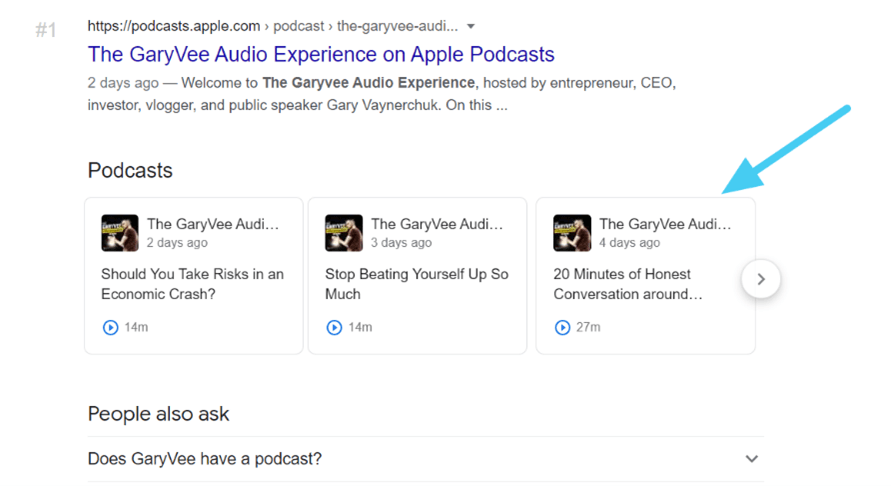 Garyvee-podcast-search-result-google